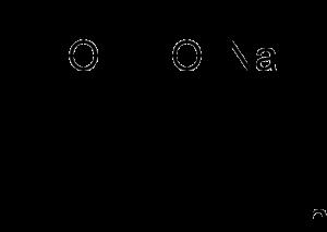 Formula esqueleto poliacrilato de sodio